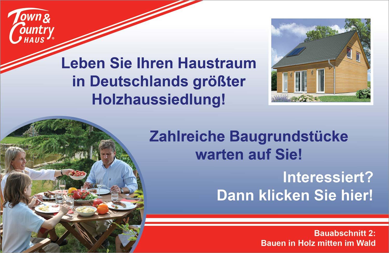 Bauen Sie Ihr Holzhaus inmitten Deutschlands größter Holzhaussiedlung - mit einem Klick auf die Tafel!